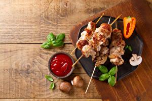 Картинка Мясные продукты Овощи Грибы Кетчуп Продукты питания