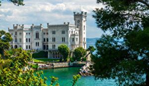 Фото Италия Замки Озеро Miramare Castle