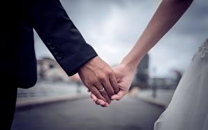 Картинка Вблизи Руки Невеста Жених Свадьба