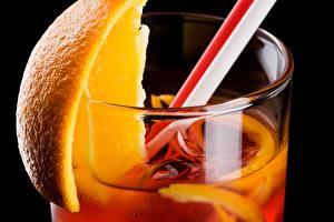 Фотография Коктейль Крупным планом Апельсин Напиток Стакан Еда
