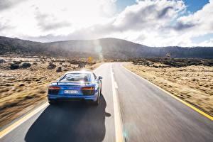 Обои Дороги Audi Вид R8 V10 Plus Автомобили