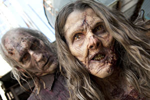 Обои Зомби Ходячие мертвецы Лицо Фильмы фото