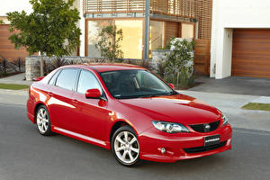 Картинки Subaru Красный Металлик Седан 2008-11 Impreza RS Sedan