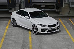 Фотографии BMW Белый dAHLer M2 F87 Coupe Автомобили