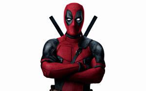 Фотография Герои комиксов Deadpool герой Белый фон Кино Фэнтези