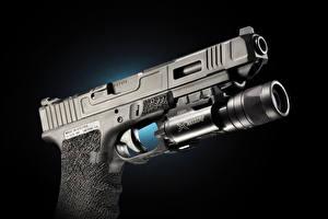 Обои Пистолеты Крупным планом Черный фон Glock 34 Армия фото