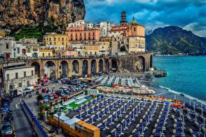 Фотографии Италия Берег Дома Amalf