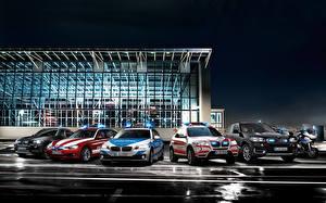 Обои BMW Много Тюнинг Автомобили