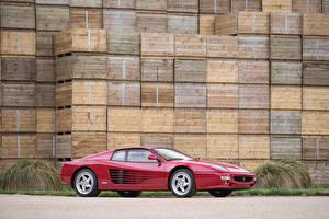 Картинка Ferrari Бордовый Металлик Сбоку 1994-1996 F512 M Pininfarina Автомобили