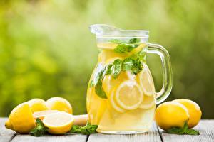 Обои Напитки Лимоны Сок Лимонад Кувшин