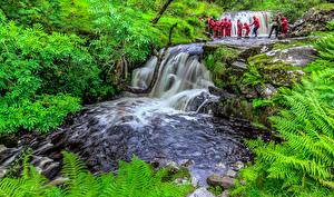 Обои Великобритания Водопады Wales Природа