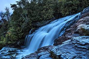 Фото Канада Водопады Quebec Природа