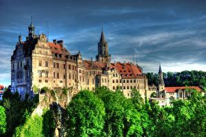 Обои Германия Замки Небо HDRI Sigmaringen Города