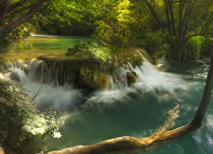Фото Хорватия Парки Реки Водопады Plitvice Lakes Природа