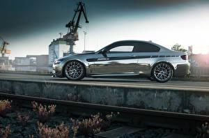 Обои BMW Сбоку Металлик Fostla M3 Coupe E92 Машины