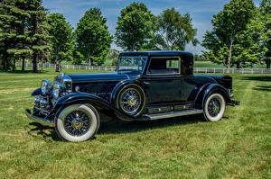 Фото Кадиллак Ретро Тюнинг Синие Металлик 1931 V16 452-A Madame X Coupe by Fleetwood Автомобили
