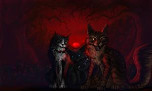 Фотография Коты Рисованные Втроем Животные