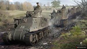 Обои World of Tanks Танки Nikita Bolyakov M3 Lee