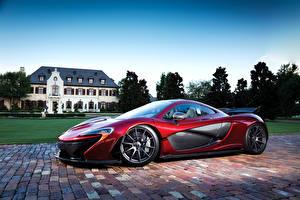 Фото McLaren Бордовая Металлик 2013-15 P1 Автомобили