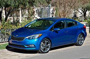 Картинка KIA Синий 2014–16 Forte Автомобили