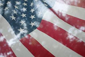 Обои США Крупным планом Флаг