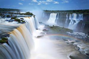 Картинка Аргентина Водопады Iguazu Falls Природа