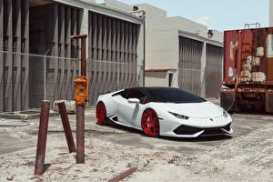 Обои Lamborghini Белых Huracan LP610-4 Vellano MC машины