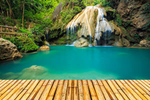 Картинки Таиланд Парки Водопады Природа