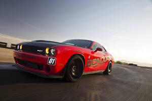 Обои Dodge Стайлинг Красные 2015–16 Challenger SRT Hellcat (LC) авто