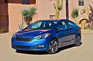 Обои KIA Синий 2014–16 Forte Автомобили
