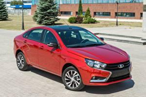Обои Лада Красный 2016 Vesta  50 Anniversary (GFL) Автомобили фото