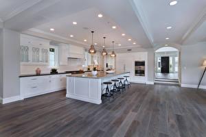 Обои Интерьер Дизайн Кухня Стол Потолок Лампа фото