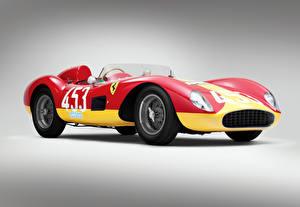 Картинка Ferrari Винтаж Стайлинг 1957 500 TRC Scaglietti Автомобили