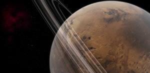 Фото Планеты Марс Кольца планет Космос 3D_Графика