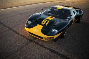 Картинка Форд Ретро Черный Металлик 1966 GT40 Le Mans Race Car Автомобили