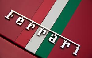 Картинки Логотип эмблема Вблизи Феррари Макросъёмка Автомобили