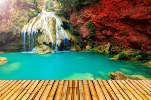 Картинка Таиланд Парки Водопады Природа