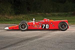 Обои Lotus Ретро Красный Сбоку 1968 Lotus 56 Автомобили фото