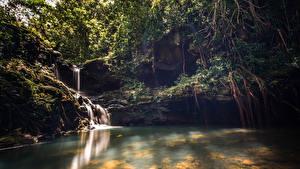 Фото Водопады Гавайи Kalauao Falls Oahu