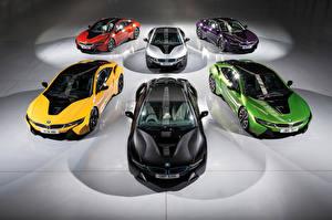 Картинка BMW Много 2016 i8 Individual Автомобили