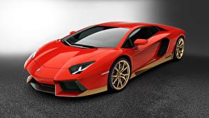Фото Lamborghini Красный 2016 Aventador LP700 Машины