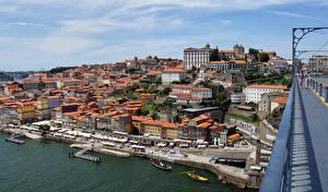 Фото Португалия Здания Причалы Мосты Портус Кале