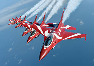Обои Самолеты Истребители F-16 Fighting Falcon The black Knights Singapore air force