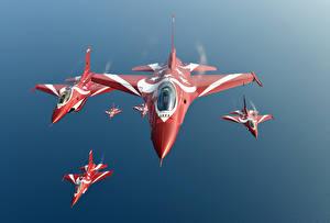 Фото Самолеты Истребители F-16 Fighting Falcon The black Knights Singapore air force Авиация