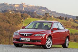 Фото Mazda Красные Металлик Седан 2005-07 6 Sedan Автомобили