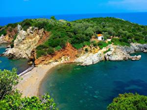 Обои Греция Побережье Agia Anna Beach Naxos Природа фото
