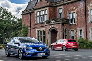 Обои Renault Двое Металлик 2015-16 Megane Автомобили