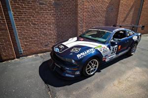 Картинка Ford Тюнинг Синий 2008 Mustang FR500S Автомобили