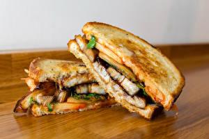 Картинка Быстрое питание Бутерброды Сэндвич Двое