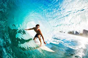 Фото Серфинг Мужчины Волны Вода